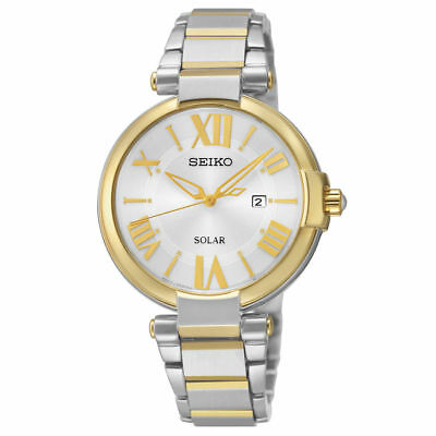 Seiko Women's Analog Display Japanese Quartz Two Tone Watch SUT174