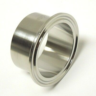 Sanitary 2 304 Stainless Long Weld Ferrule Clamp End Dairy Tri Clover San034