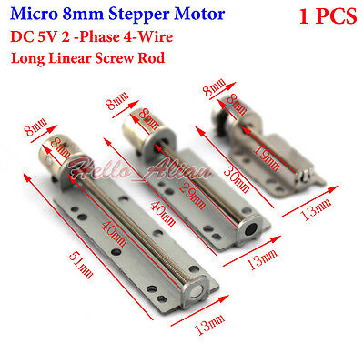 DC 5V 2 Phase 4 Wire Micro 8mm Stepper Motor Mini Stepping Motor Linear Screw
