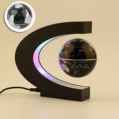 Levitation Floating Globe Rotating Magnetic Suspending World Map Earth Geography