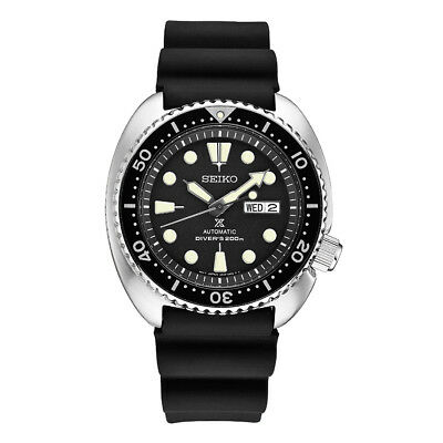 Black Rubber Watch - Seiko Men's Prospex Automatic Black Rubber Strap Diver's Watch SRP777