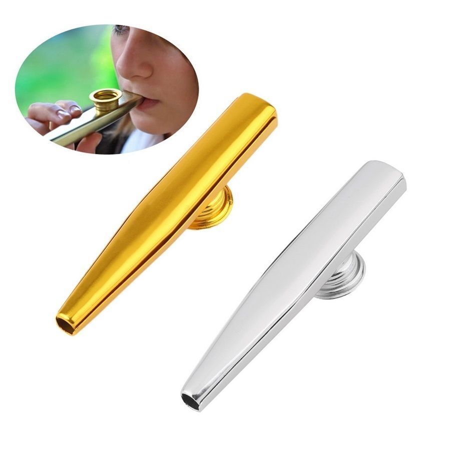 Metal Kazoo Harmonica Mouth Flute Mini Musical Instrument For Kids Child