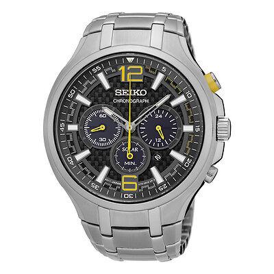 Seiko Men's SSC449 Recraft Solar Chronograph Stainless Steel Watch