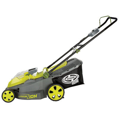 """Sun Joe iON16LM 40 V Cordless 16"""" Lawn Mower with Brushless Motor"""