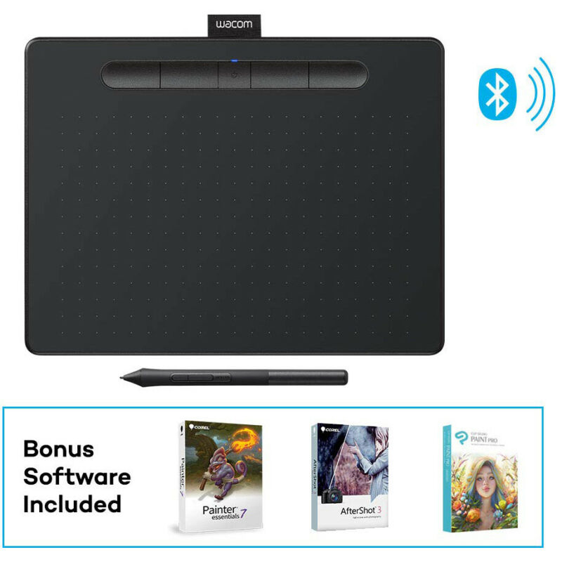 Wacom Intuos Creative Pen Tablet with Bluetooth - Medium, Black