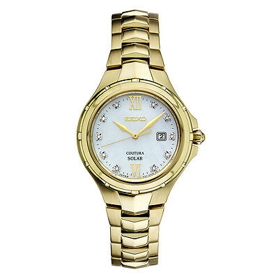 *BRAND NEW* Seiko Women's Diamond Accent Gold  Stainless Steel Watch SUT310