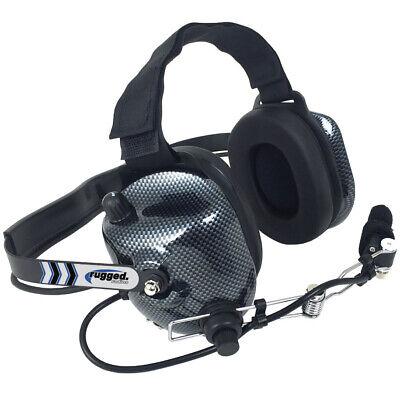 Rugged Radios H41-CF Behind the Head Carbon Fiber NASCAR Racing Two Way Headset