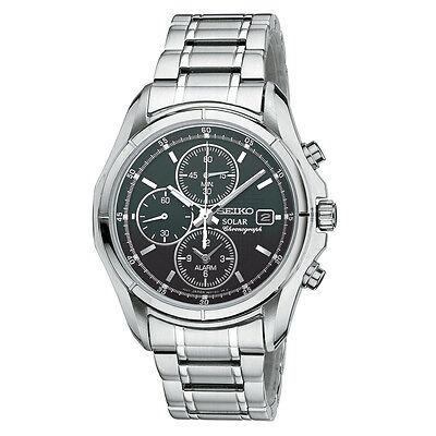 *BRAND NEW* Seiko Men's Chronograph Silver-Tone Solar Watch SSC001