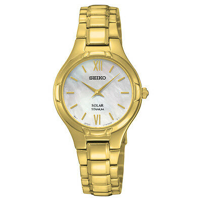 *BRAND NEW* Seiko Women's Gold-Tone MOP Dial Watch SUP294