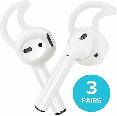 AirPods Ear Hooks, Apple Earpods Cover Tips, 3-PACK Silicone Covers Clear