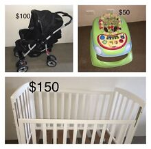 Baby cot, stroller, walker for sale, Weatmead Wentworthville Parramatta Area Preview