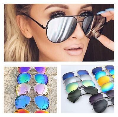 Aviator Sonnenbrille (ACE Sonnenbrille Pilotenbrille Aviator Spiegelbrille Retro Gestell Damen Herren)