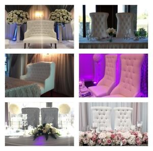 Bridal/ king/Queen chairs for Rent $250. 9/10 condition