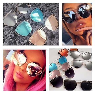 AC Cateye Damen Sonnenbrille Retro Verspiegelt Rosagold Vintage Blogger Trend