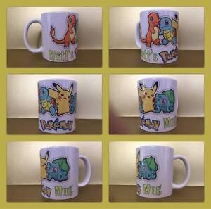 pokemon ash pikachu squirtle japan nintendo personalised mug cup any name gift