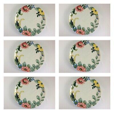 Set/6 Pottery Barn Lyla Garden Butterfly DINNER Plates Spring Easter Dinnerware for sale  Ojai
