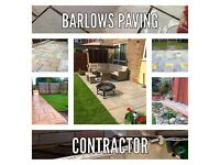 Barlows paving contractor Indian stone paving block paving flagging artificial grass turf walling