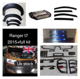 Ford ranger t7 2016 full body kit cover bonnet hood