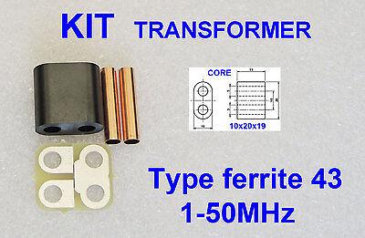KIT RF Transformer ferrite 43 Amplifier RD16HHF1 2SC2290