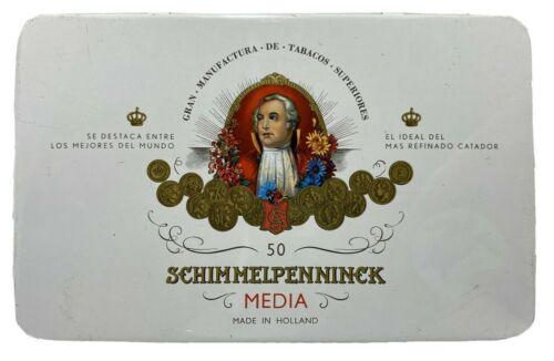Schimmelpenninck Vintage Cigar Tin Held 50 Small Media Cigars Made In Holland