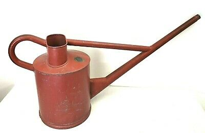 Large Haws Watering Can No4 - 8Qrt Red Vintage Galvanized 2 Gallons
