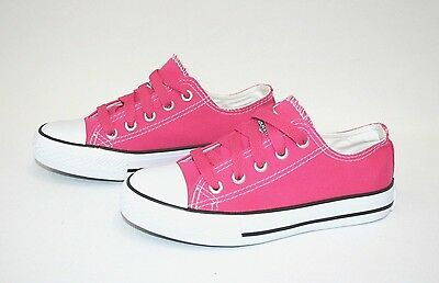 Kid's Classic Shoes Canvas Athletic Lace Tennis  Girl's Rubber Sole sz 10-4