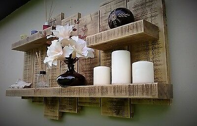 Floating Shelf display wall storage unit shelves wood timber wall art light oak,