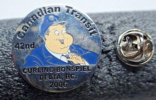 RARE Curling Bonspiel Pin - Canadian Transit 42nd Delta BC Canada 2006