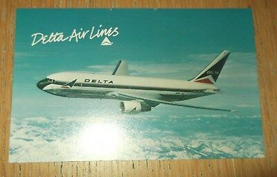 Delta Airlines Boeing 767 branded postcard MINT CONDITION 0442-02741