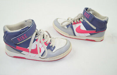 91b7c78491e8ee Girl s NIKE Morgan Mid 2 Jr GS Youth Shoe Size 5.5 White Pink Grey  442446-062