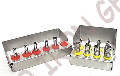 Dental Implant Tissue Punchtrephine Drills 2 Kit 13pcs Set Surgical Surgery