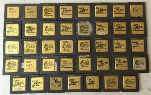 39 Cyrix 6x86 Ceramic Gold Scrap Recovery Lot Processor CPU