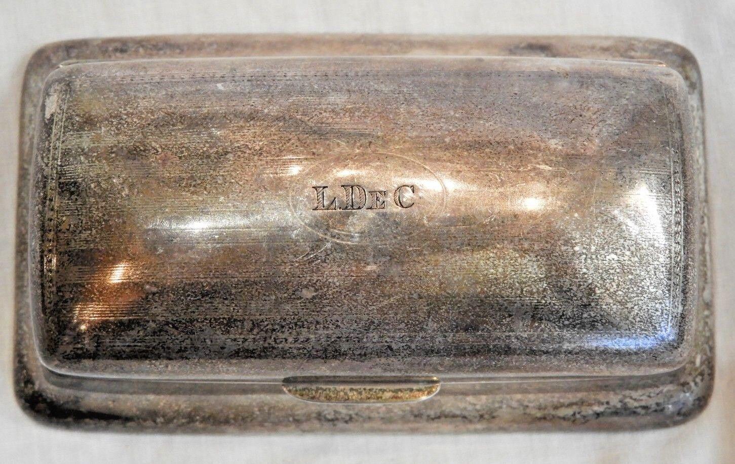 Antique Reed Barton Sterling Silver Stamp Holder Case - $231.20