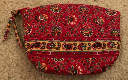 Vera Bradley Cosmetic Bag in Colette Red - Make-up Case - Fall 1995 - Floral
