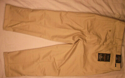 NAUTICA PANTS 36X30 135 KHAKI RIGGER CLASSIC FIT PLEATED CHINO COTTON NEW NWT