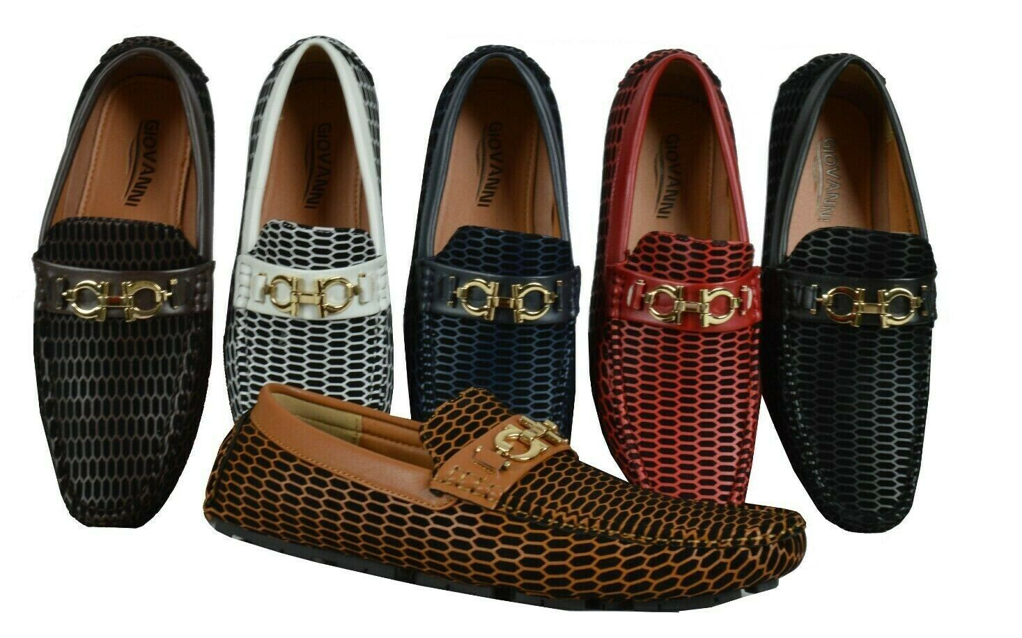 Men's Loafers Giovanni Dress Shoes Moccasin Wedding Formal M