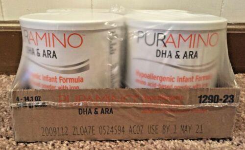 Puramino DHA & ARA Hypoallergenic Infant Formula 14.1oz Case of 4
