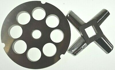 32 X 34 Stainless Meat Grinder Plate Heavy Duty Knife For Hobart Biro