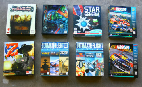 Lot of 8 PC Big Box Video Games - CD ROM - Used - Fast Shipping in US!