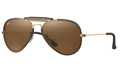 Ray-Ban Outdoorsman Craft Sunglasses (Brown; Gold/Brown Classic B-15)