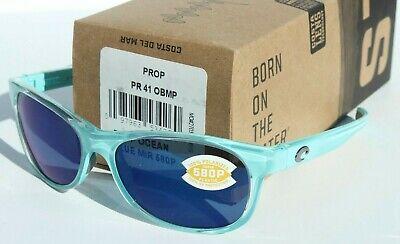 COSTA DEL MAR Prop 580P POLARIZED Sunglasses Ocean Blue/Blue Mirror (Costa Prop)