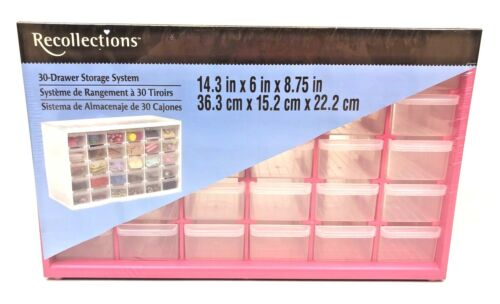 Recollection Store-In-Drawer Cabinet, 30 Drawers, Pink, Arts & Crafts Stackable