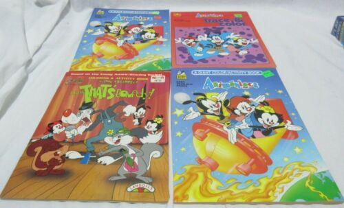 Set of 11 Vintage Animaniacs Coloring Activity Sticker Etc Book 1 Used Sum Dupes