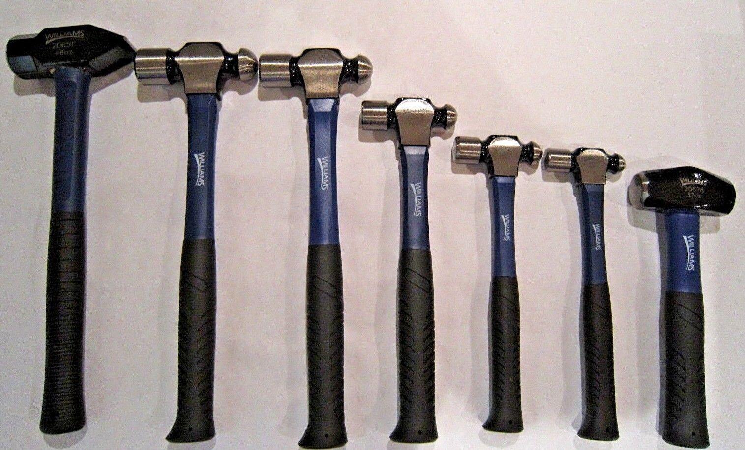 Williams by Snap-On 7 pc Hammer Set Ball Pein 2 lb Drilling & 3 lb Sledge Peen