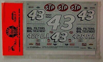Slixx Decal 1079 Richard Petty STP Nascar 43 Dodge Charger 1/16  FREE SHIP!!