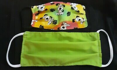 Black And Green Masquerade Mask (PUPPY DOG MASK Reversible (lime Green, Black) And)