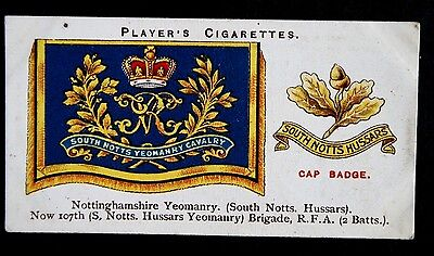Nottinghamshire Yeomanry (South Notts, Hussars)  Vintage Insignia Card # VGC