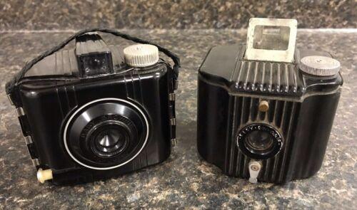 Lot of 2 Vintage Eastman Kodak Baby Brownie Cameras