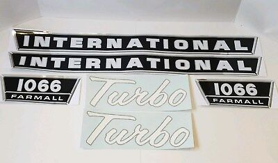 New Hood Decal Set For Ih 1066 Tractor W Turbo Decals 538089r1 135708c1