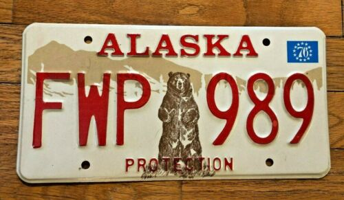 1976 Alaska Fish and Wildlife License Plate